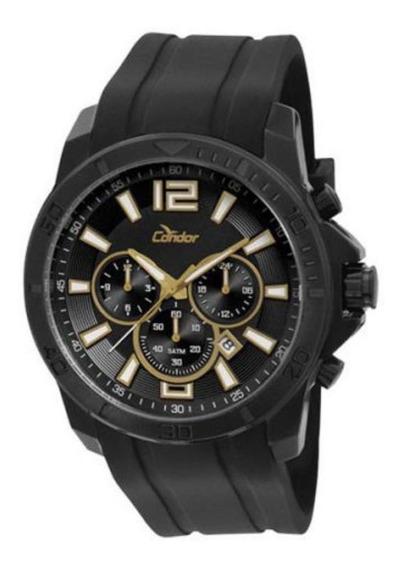 Relógio Condor Masculino Dual Time Covd33ad/3p Preto