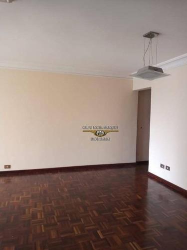 Imagem 1 de 16 de Apartamento Com 3 Dormitórios Para Alugar, 98 M² Por R$ 2.300,00/mês - Belém - São Paulo/sp - Ap2577