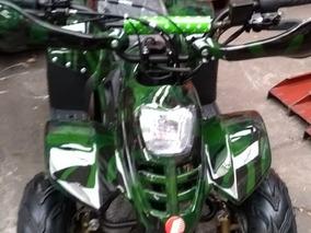 Cuatrimoto 110cc De 4 Tiempos Color Verde Camuflaje, P/ 60kg