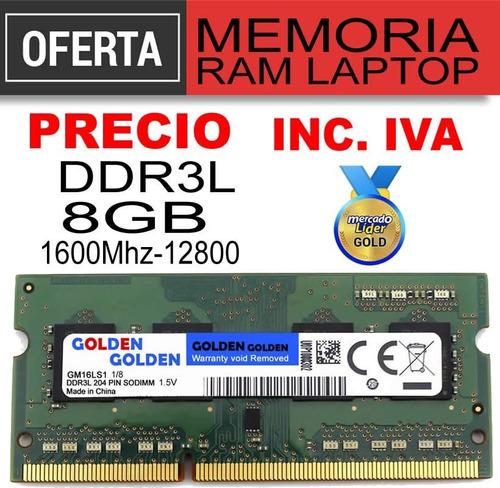 Memoria Ram Ddr3l 8gb Pc3l-12800 1600mhz Laptop Inc Iva
