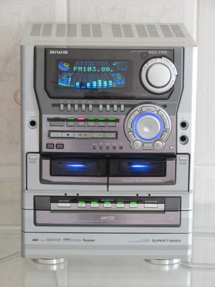 Aparelho Som Aiwa Nsx-t99 Ultra Raro Nsxt99 O Melhor E Único 560w Rms 6200w Pmpo
