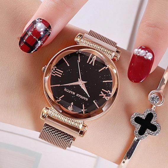 Relógio De Pulso Feminino Céu Estrelado Barato Bonito Presen