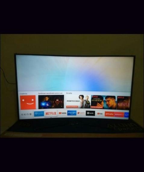 Smart Tv Led 55 Uhd 4k Curva Samsung 55mu