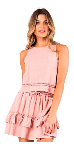 Musculosa Mujer Rusty Adrift Top Rosa