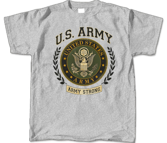 Envío Gratis Playera U S Army Strong Logo Aguila Armada Marn
