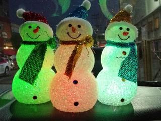 Muñeco De Nieve Con Luz Decoración Navidad 20 Cm Altura