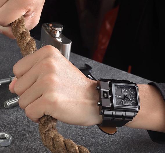 Relógio Masculino Couro Aço Inoxidável Importado Promoção !!