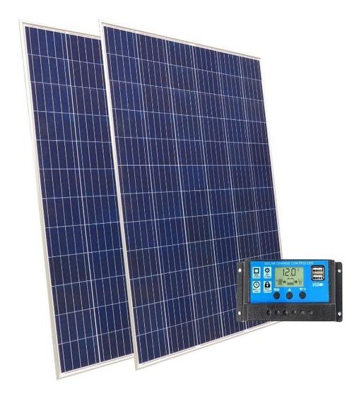 Kit Solar 2 Paneles 100w + Regulador Carga 20 Amper 12v 24v
