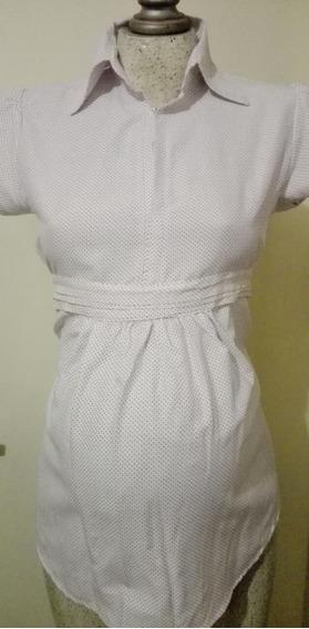 Blusa Camisa De Vestir Maternidad Casimir Fajilla