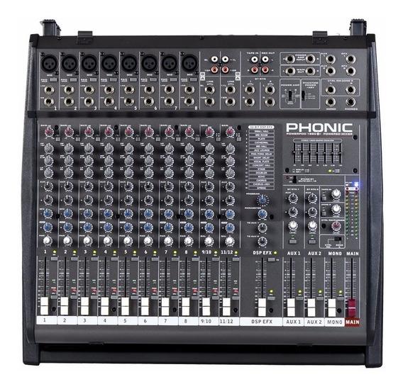 Mesa De Som / Mixer 12 Canais Powerpod 1860 Plus - Phonic