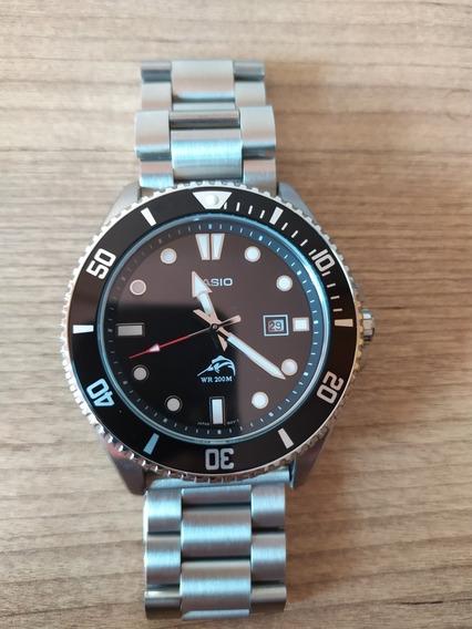 Relógio Casio Marlin Duro Mdv106 Mdv-106 C/ Pulseira De Aço