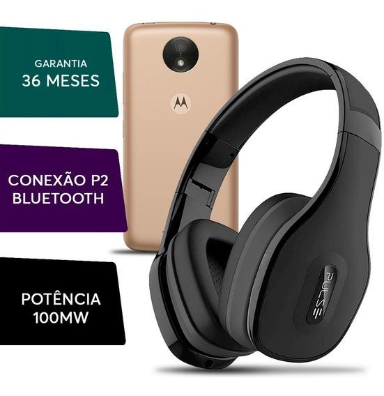 Fone Ouvido Headphone Pulse Bluetooth Para Motorola Moto C