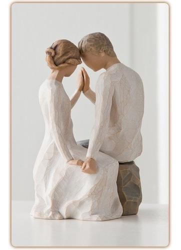 Noivinhos - Topo De Bolo Rústico - Casamento - Willow Tree