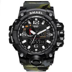 Relógio Esportivo Militar Shock Smael 1545 Camuflado +estojo