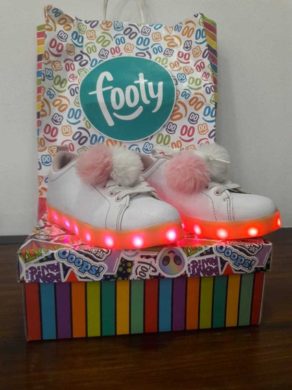 Zapatillas Footy Led Niña Luces Talle 32