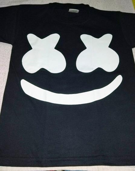 Playera Marshmello, Brilla En La Oscuridad