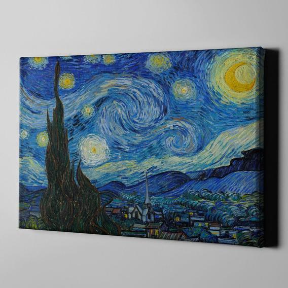 Cuadro Van Gogh La Noche Estrellada Lienzo Reproduccion