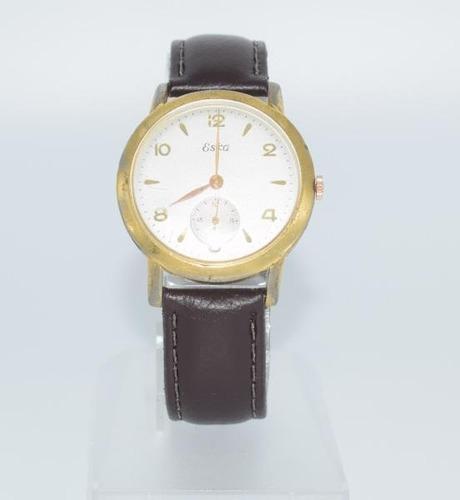 Relógio Suiço Eska Vintage A Corda 36mm Plaquet D´or