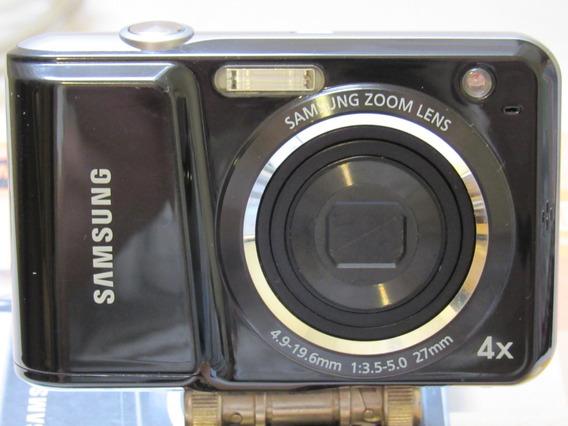 Câmera Digital Samsung Es25 + Cartão Sd 4gb + Mini Tripé