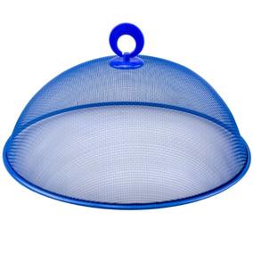 Tela Protetora De Alimentos Cobre Bolo 35cm Imporiente Azul