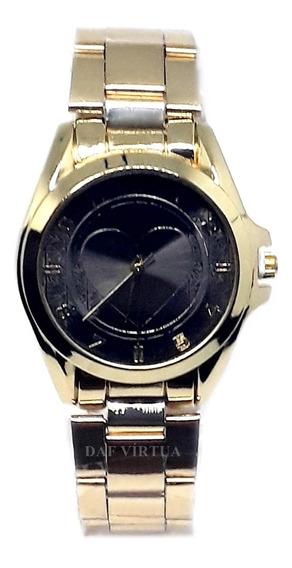 Relógio Feminino Dourado Prateado Aço Luxo Pronta Entrega