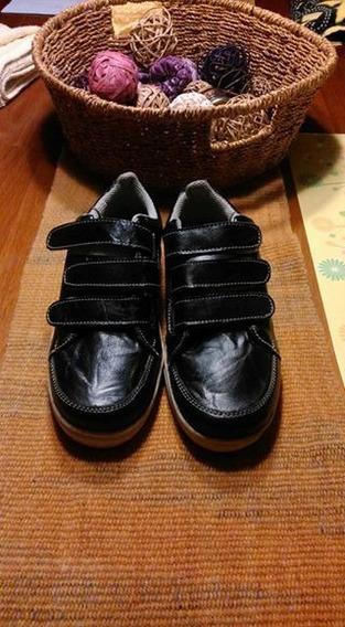 Zapatos De Cuero Talla 34