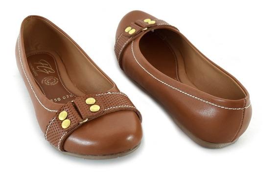 Zapatos Dama Valerinas Flats Mujer Mayoreo Modelo 078 Camel