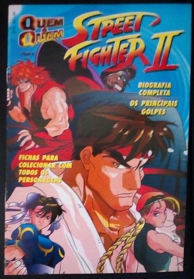 Revista Quem É Quem Street Fighter 2 Nº 1 Fichas Pra Coleção