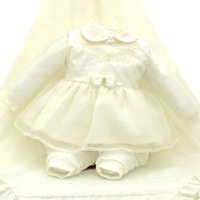 Saida Maternidade Paraiso Bebê Menina Luxo Batizado Cod 7982
