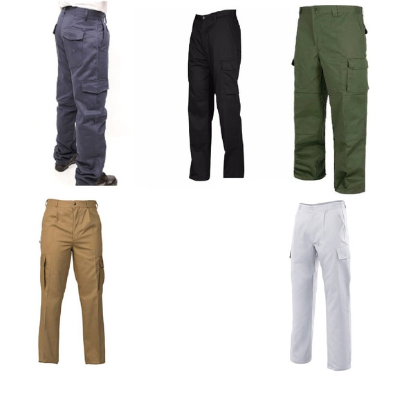 Pantalon Trabajo Cargo Azul Verde Negro Beige