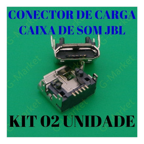 Conector De Carga Usb Caixa Jbl Flip 3 (kit Com 02 Unidade)