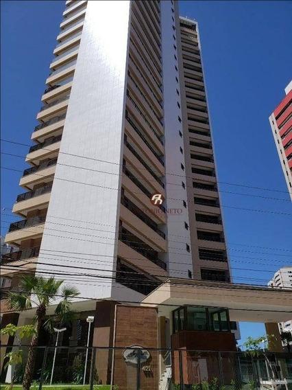 Apartamento Com 4 Dormitórios Para Alugar, 114 M² Por R$ 3.150/mês - Meireles - Beira Mar - Fortaleza/ce - Ap0408