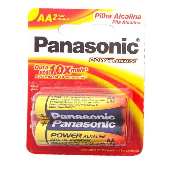 Pilha Alcalina Pequena Aa 2 Unidades - Panasonic 5 Packs