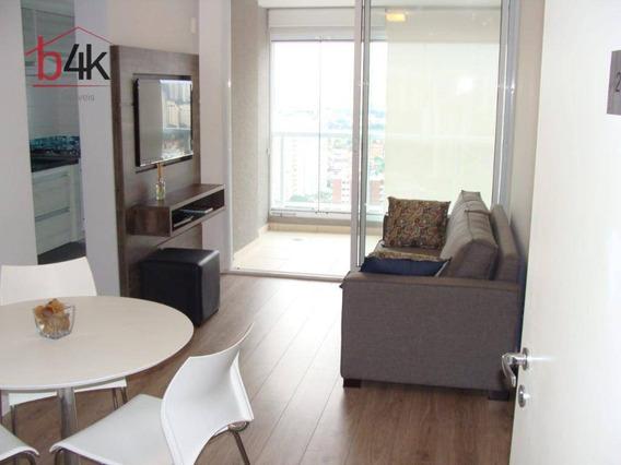 Apartamento Mobiliado No Code Berrini, 45m, 1 Dormitório, 1 Vaga - Brooklin - Ap3095