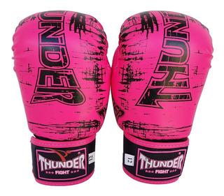 Luva Feminina De Boxe Muay Thai 12 Top Treino Thunder Pulser