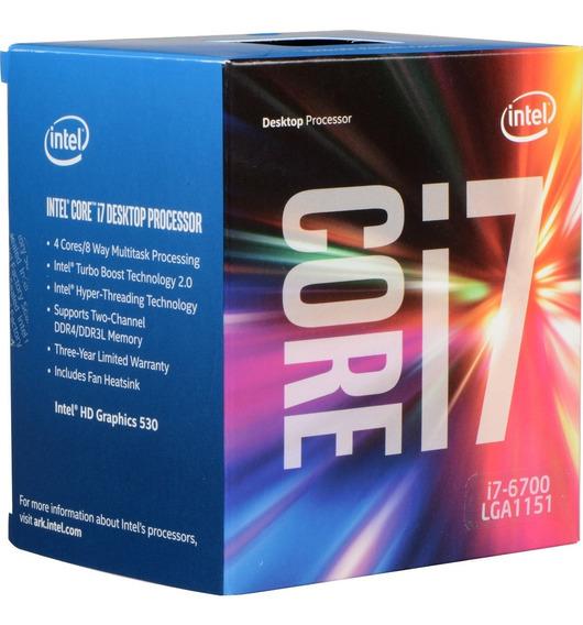 Intel Core I7-6700 (3.40ghz) Lga1151 - 1 Ano De Garantia!