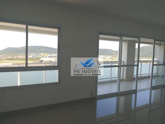Apartamento Com 4 Dormitórios À Venda, 189 M² Por R$ 1.490.000,00 - Ponta Da Praia - Santos/sp - Ap0875