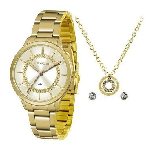 Kit Relógio Lince Feminino - Modelo: Lrgj077l Kv30