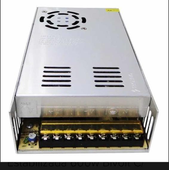 Fonte Chaveado 12v 50ap Estabilizada 600w Com Cooler