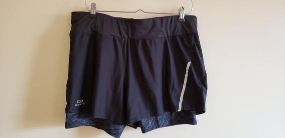Short De Mujer Con Calza - Talle L - Marca Kalenji - Sin Uso