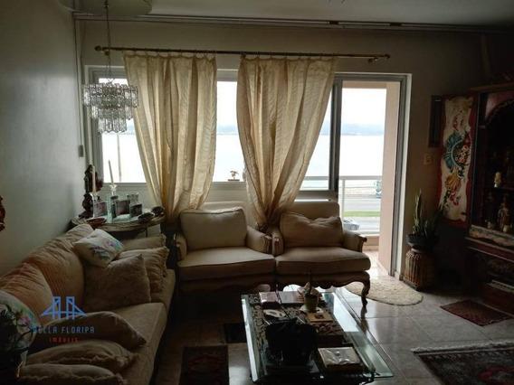 Amplo Apartamento 175m²priv 4 Dormitórios (duas Suítes Uma Master) E Dep Empr. Vista Panorâmica Para Beira Mar Florianópolis - Ap2720