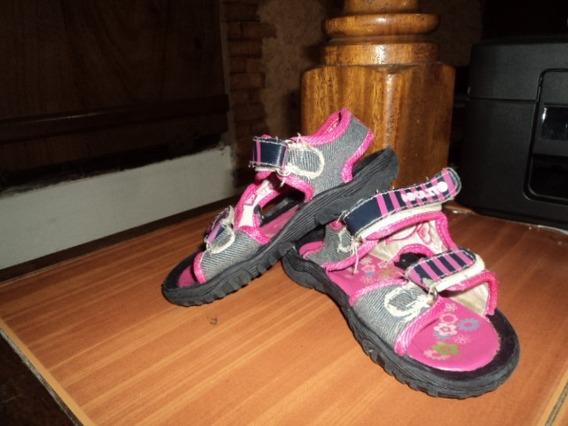 Sandalias Apolito Rosadas-gris Niñas Talla 26 Usadas