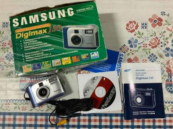 Samsung Câmera Digital Digimax 130 Usada - Ler Anúncio!