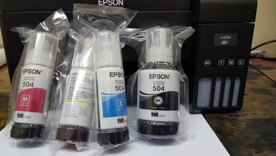 Tinta Epson Original T504 L6161 L4150 L4160 L6191 L6171