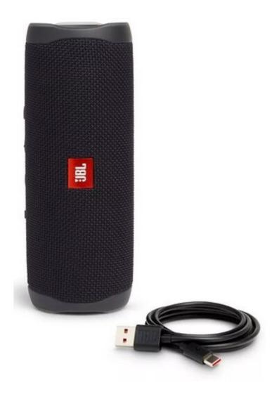 Caixa De Som Jbl Flip 5 Preta Bluetooth S/ Fio 20w-portátil