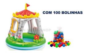 Toca Inflavel Castelo Com 100 Bolinhas
