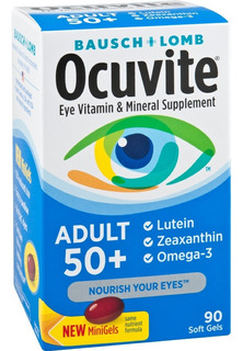 Bausch Lomb Ocuvite Vitaminas Ojos Adulto 50+ #90 Softgels