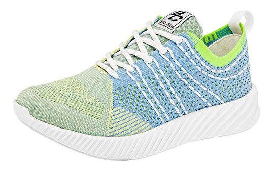 Sneaker Casual Malla 94124dtt Geometrico Textura Ligero