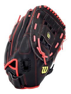 Manopla A360 Softball Tamaño 13 Negro/rojo Wilson