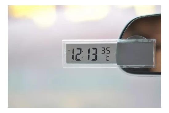 Relógio E Temomêtro Digital Para Carro Taxi Com Pilha